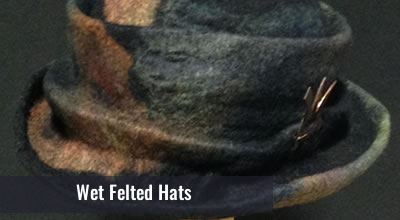 Learn to make a wet felted hat using a resist and forming it on a hat block. You will be able to create your own hat again as the block is reusable and come with the kit.