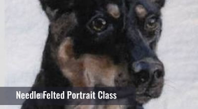 Create a portrait of your own pet, favourite animal, flowers, etc. Don't miss this opportunity to learn from an amazing artist.  Learn to paint a portrait of your choice using natural fibres and you will be hooked!